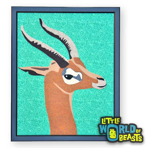 Gerenuk - Felt Animal Portrait