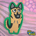 German Shepherd Felt Dog Applique