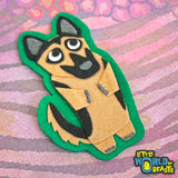 Dog Iron On Patch Felt  - German Shepherd