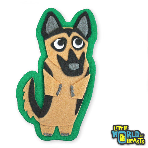 Heinrich the German Shepherd Felt Dog Applique