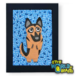 Heinrich the German Shepherd Framed Wall Art