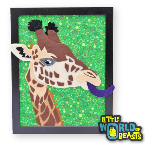 Giraffe - Felt Animal - Wildlife Portrait