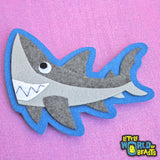 Felt Shark Applique - Little World of Beasts