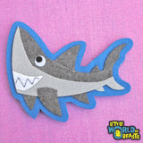 Shark - Felt Applique - Iron on or Sew on - Little World of Beasts
