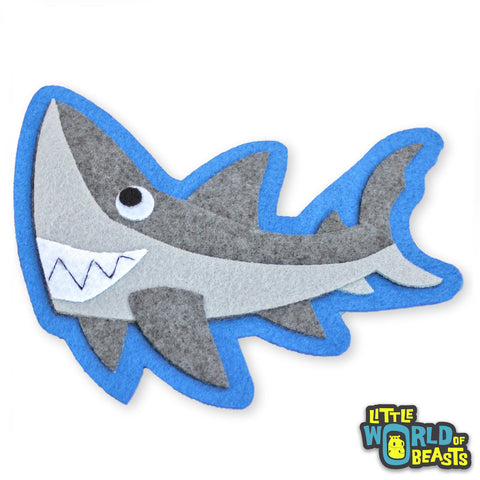 Derek the Great White Shark - Sew On or Iron on Patch