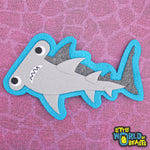 Hammerhead Shark - Felt Animal Patch