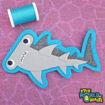 Hammerhead Shark - Felt Animal Applique Sew On Patch