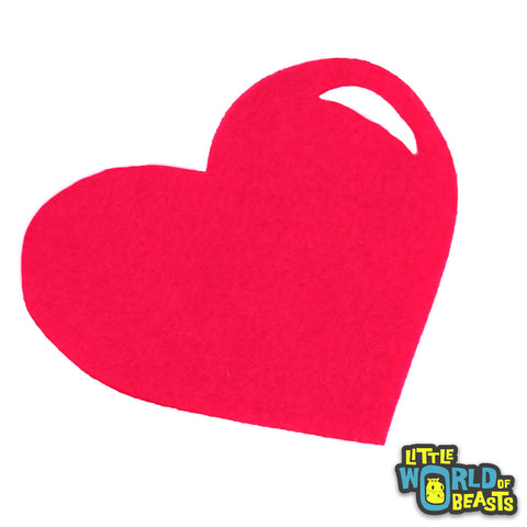 Laser Cut Felt Shape - Heart