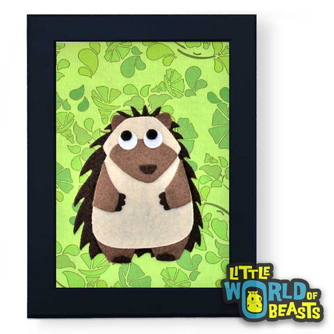 Mortimer the Hedgehog - Woodland Animal Nursery Art - Little World of Beasts