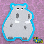 Animal Applique - Felt - Hippo - Little World of Beasts