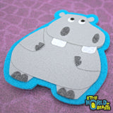 Sew On or Iron on Felt Animal Patch - HIppo