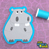Hippo - Felt African Animal Applique
