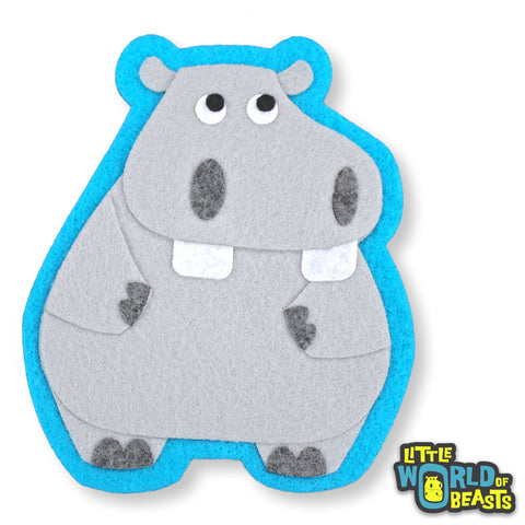 Hippo - Felt Animal Sew On Patch
