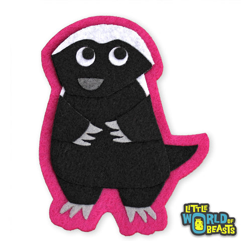 Pumpkin the Honey Badger - Sew on or Iron on Patch - Little World of Beasts