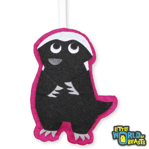 Pumpkin the Honey Badger - Felt Animal Ornament - Little World of Beasts