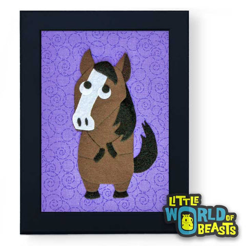 Horse - Felt Animal Nursery Art