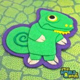 Felt Animal Applique - Chameleon