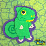 Chameleon Felt Animal Patch
