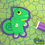 Clover the Veiled Chameleon - Iron On or Sew On Patch - Little World of Beasts