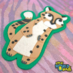 Cheetah - Felt Animal Applique Patch\