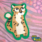 Cheetah - Felt Animal Applique Patch - Little World of Beasts