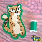 Darby the Cheetah Iron On or Sew On Patch