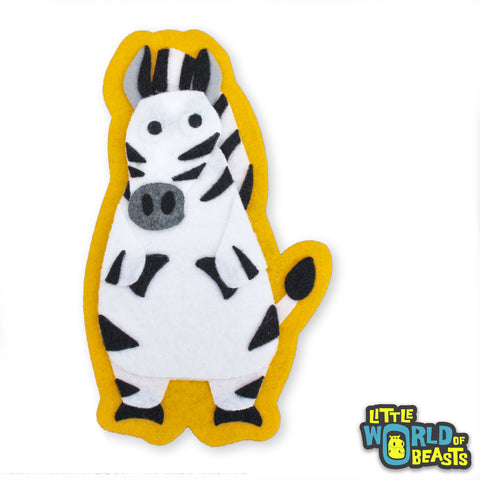 Temperance the Zebra Patch - Felt Animal Applique