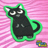 Black Cat - Felt Animal Patch