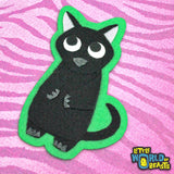 Black Cat Patch - Sew on or Iron on