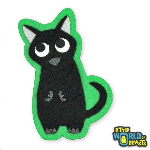 Tas the Black Cat - Sew on or Iron on Patch - Little World of Beasts