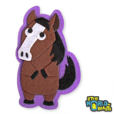 Graham the Horse - Felt Animal Sew On or Iron on Patch - Little World of Beasts
