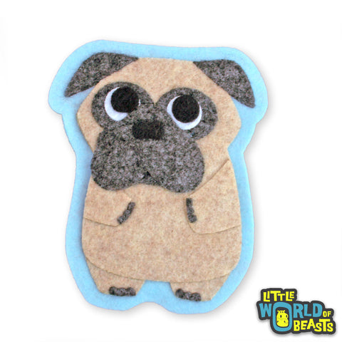 Peaches the Pug - Felt Dog Sew On Patch - Little World of Beasts