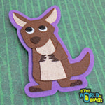 Felt Animal  Patch - Kangaroo