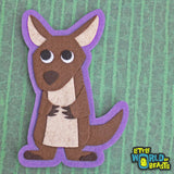 Kangaroo - Felt Animal Applique