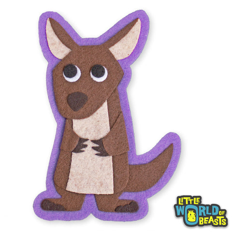 Mildred the Kangaroo - Sew On or Iron On Patch - Australian Animal - Little World of Beasts