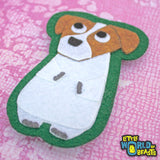 Dog - Jack Russell - Felt Dog Sew or Iron on Patch