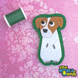 Jack Russell Felt Dog Applique