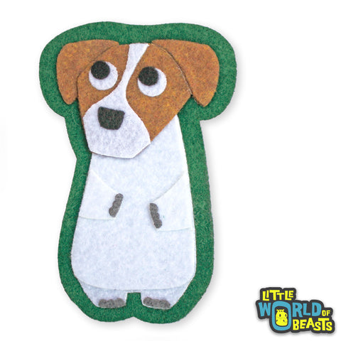 Chip the Jack Russell Felt Dog Patch