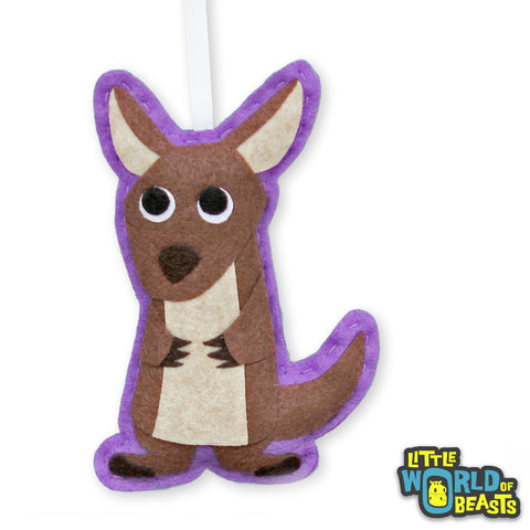 Mildred The Kangaroo - Felt Holiday Tree Ornament - Little World of Beasts