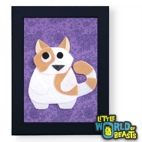 Theodore the Fat Cat - Felt Nursery Art - Little World of Beasts