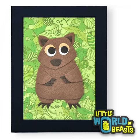 Wombat - Felt Australian Animal Wall Art