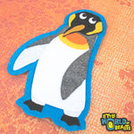 King Penguin - Handmade Felt Patch