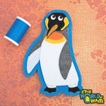 Bowtie the King Penguin - Iron On or Sew On Felt Animal Patch - Little World of Beasts