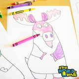 Simple Line Art - Downloadable Animal Coloring Pages