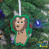 Lion - Felt Animal Christmas Ornament