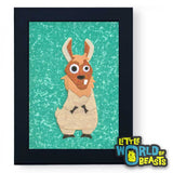 Llama - Felt Farm Animal Nursery Art