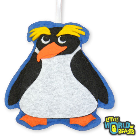 Cummerbund the Penguin - Felt Animal Christmas Ornament