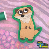 Meerkat - Felt Patch - Iron On or Sew On - Little World of Beasts
