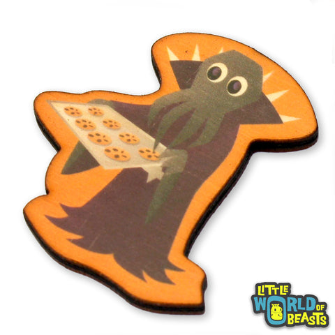 Mindflayer Bakes Cookies - Mundane Monster Laser Cut Wooden Pin