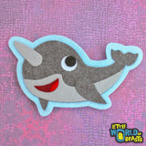 Narwhal Felt Patch